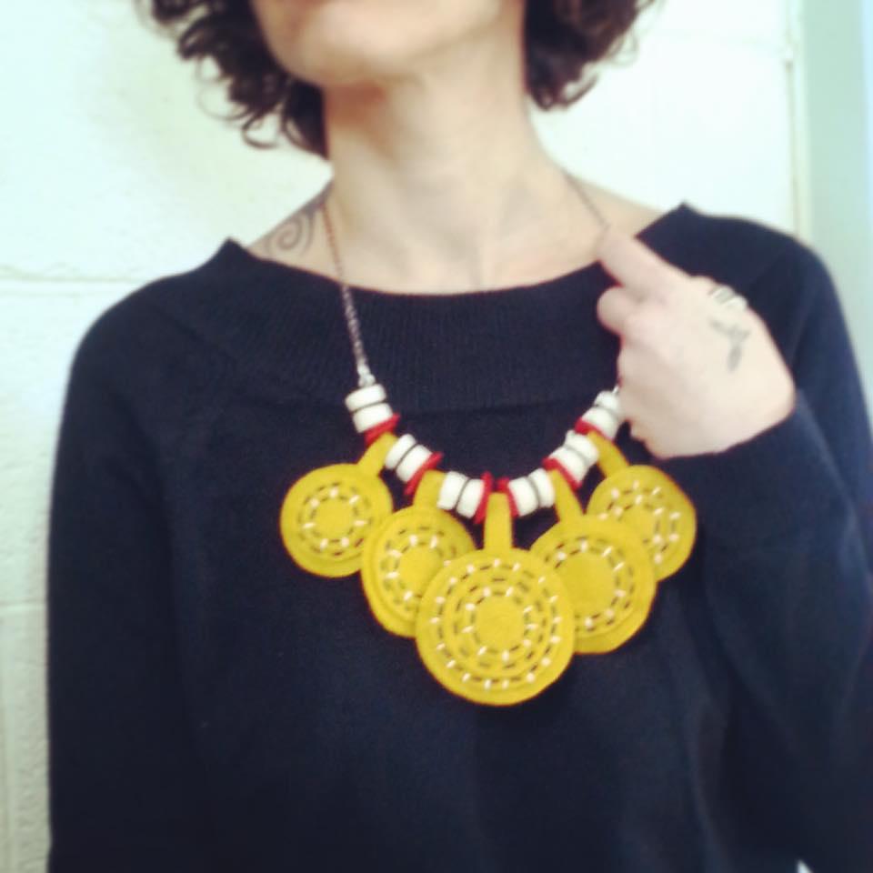 6 תכשיט לבד felt necklace
