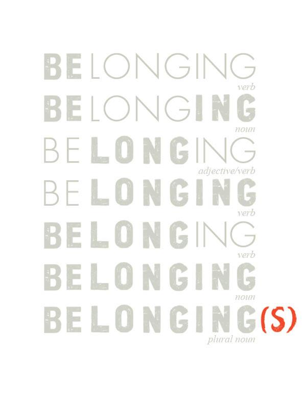 belonging בילונגינג של נועה בר לב אבידור לוגו
