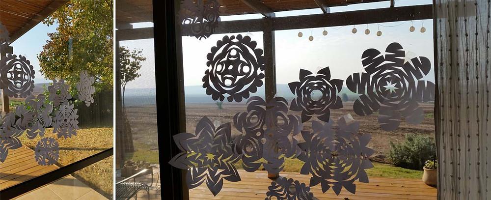 מגזרות נייר לקישוט החלון