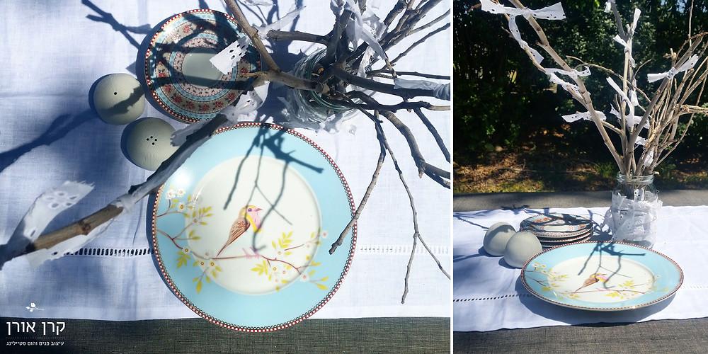 עיצוב שולחן חג. שולחן חג יצירתי DIY