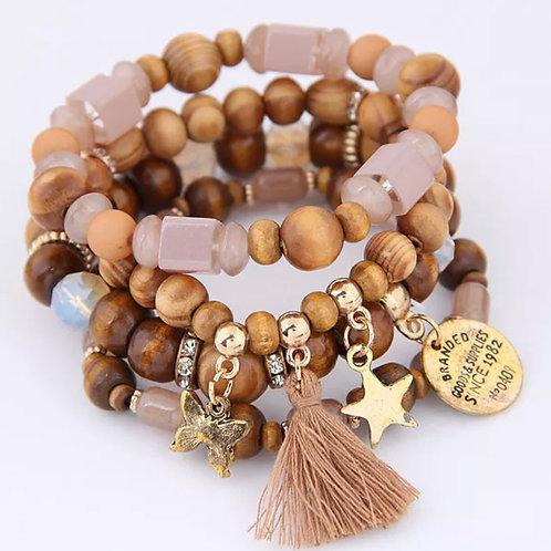 Bohemian Wood Bracelet