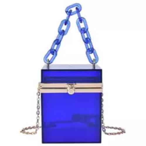 Blue box purse