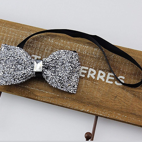Fashion bow tie (silver)