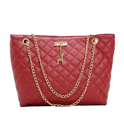 Dark Red tote