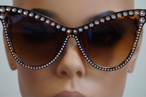 Rhinestone cat eye shades