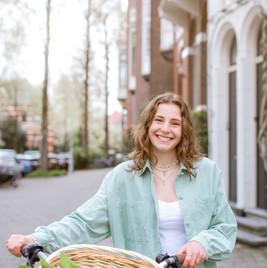 Bike with Tulips Amsterdam