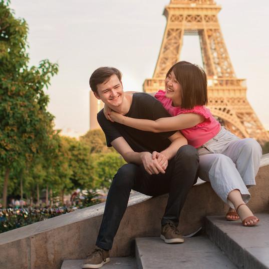 Couple's Photos in Paris