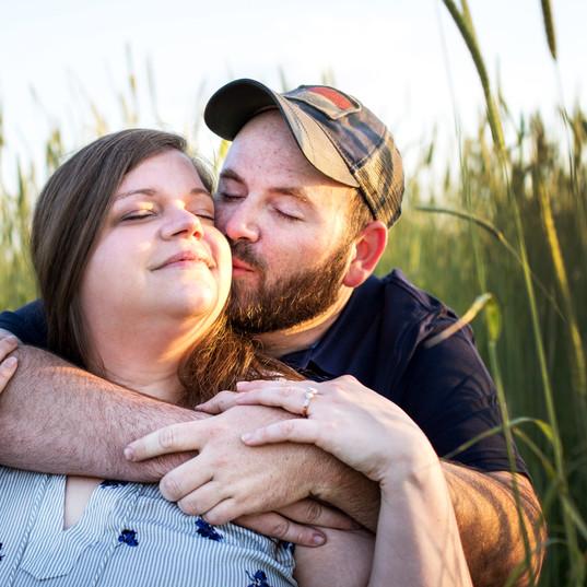 Couple in Green Wheat Field