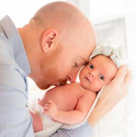 Newborn Daddy & Daughter
