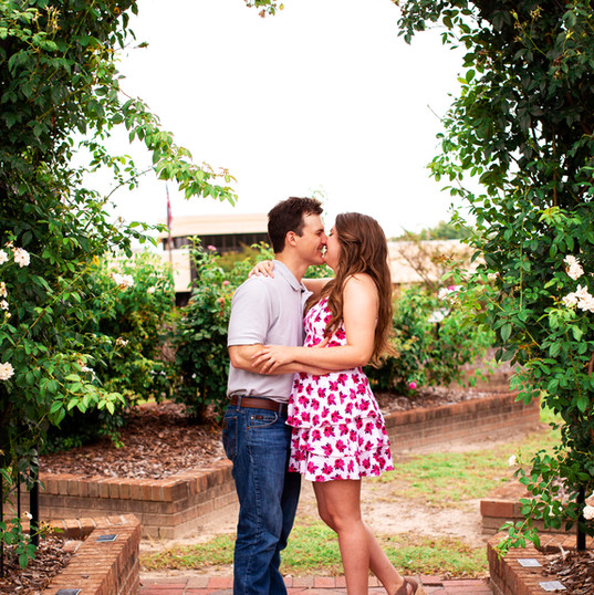 Kiss Under the Flower Arch