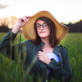 Green Wheat Field Portrait
