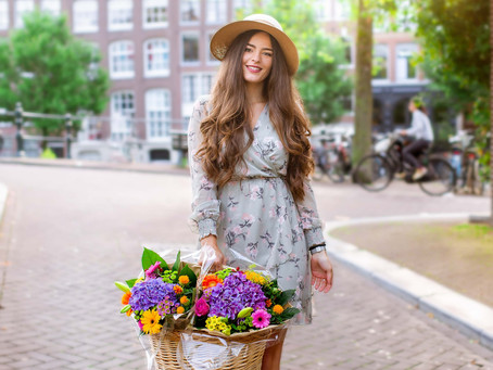 Amsterdam Flower Bike Photoshoot