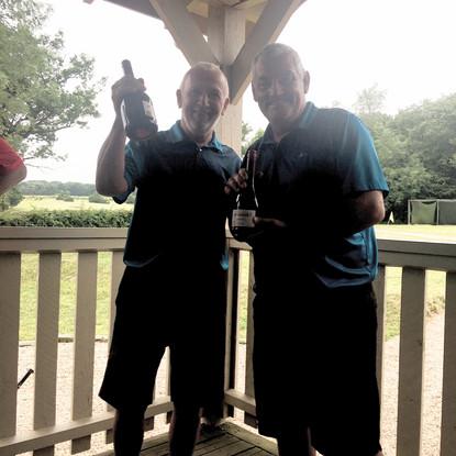 AVGC Herts Air Ambulance Charity Day Runners Up - John Procter and James O'Sullivan