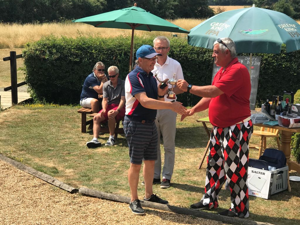 Big congratualtions to Keith Squirrell who won the Herts Air Ambulance Charity Day