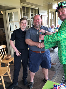 Jonathan and Samuel Knight. Winners of the Better Ball trophy