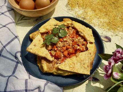 Gefülltes Thai Omelett