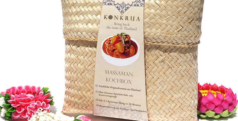 Massaman Kochbox (für 3-4 Portionen) in der Bambusbox