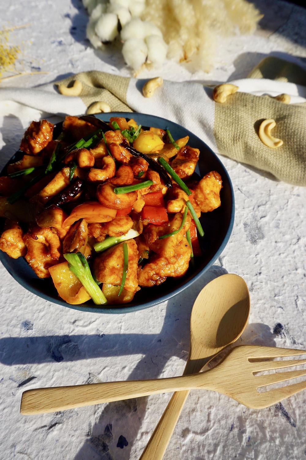 Gebratener Brokkoli mit Garnelen Thai