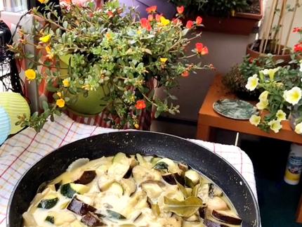Grünes Thai Curry mit Reis Vermicelli