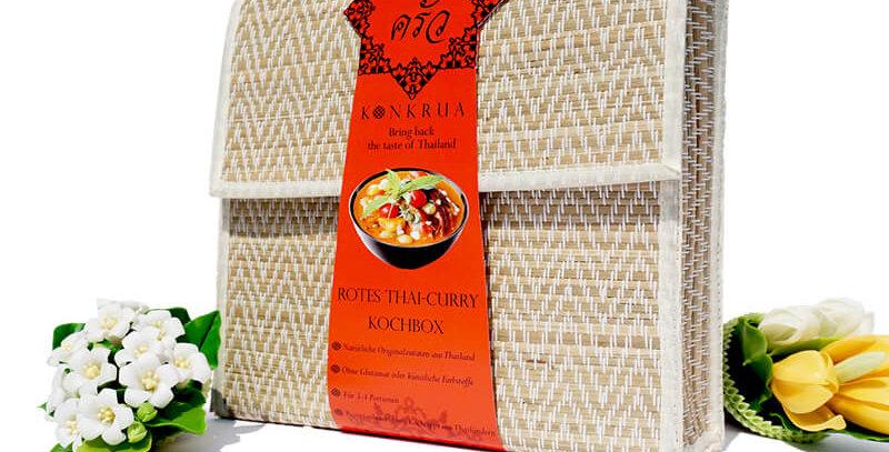 Rotes Thai-Curry Kochbox (für 3-4 Portionen) in der Schilfgras-Tasche