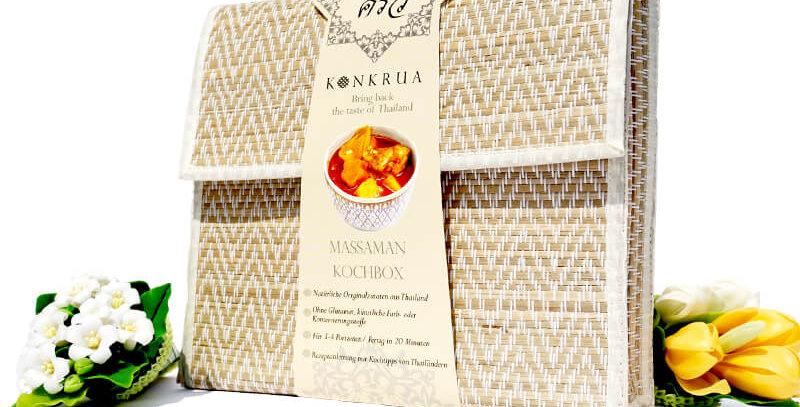 Massaman Kochbox (für 3-4 Portionen) in der Schilfgras-Tasche
