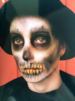 Halloween Full Face Skull Makeup
