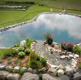 Aménagement paysager lac