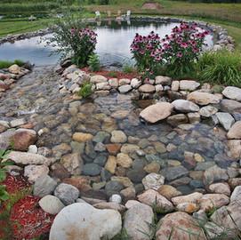 Aménagement paysager lac artificiel Estrie