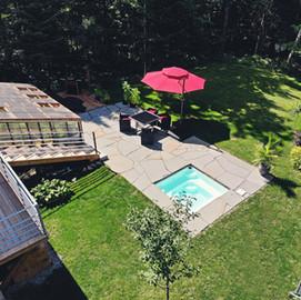 Paysagement pour piscine Estrie