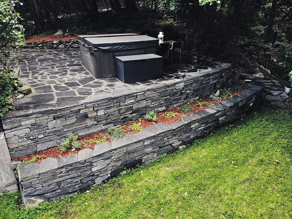 Paysagement et aménagement de murs et murets Estrie Cantons-de-l'Est