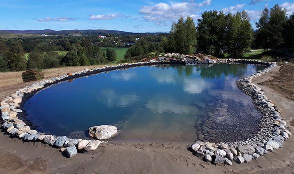 Berge lac artificiel
