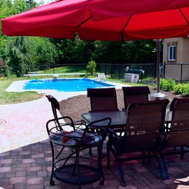 Aménagement de patio de piscine