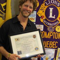 Certificat d'appréciation Ben Bouthille