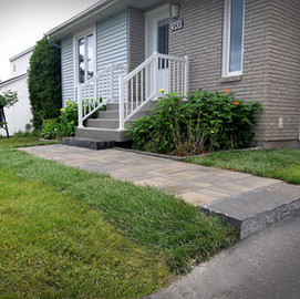 Aménagement de trottoir résidentiel