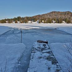 Vue sur le lac du chalet