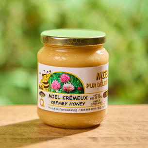 Miel de trèfle crémeux