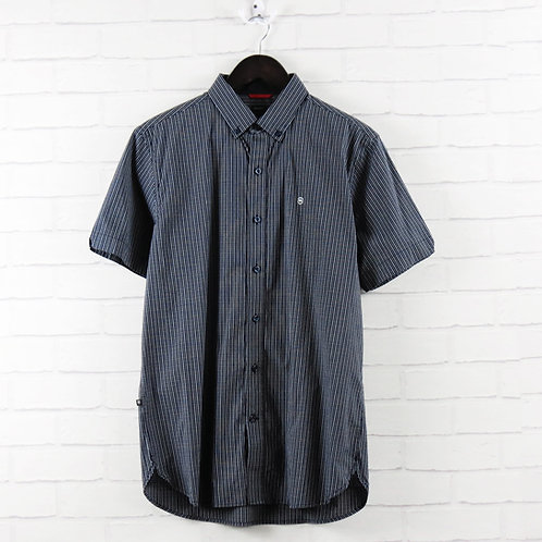 Victorinox Blue Short Sleeve Check Shirt