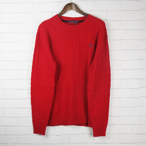Henri Lloyd Red Cable Knit