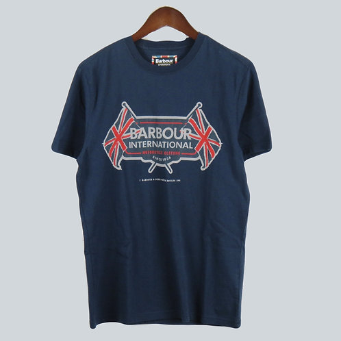 Barbour International Navy T-Shirt