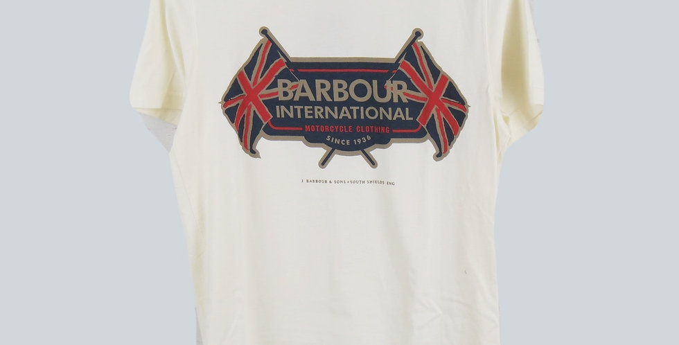 Barbour International Cream T-Shirt