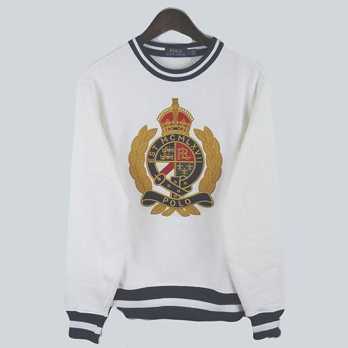 Polo Ralph Lauren M Yale White Knitted Sweatshirt