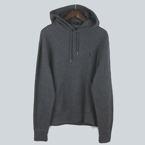 Polo Ralph Lauren Grey Knitted Hooded Sweatshirt