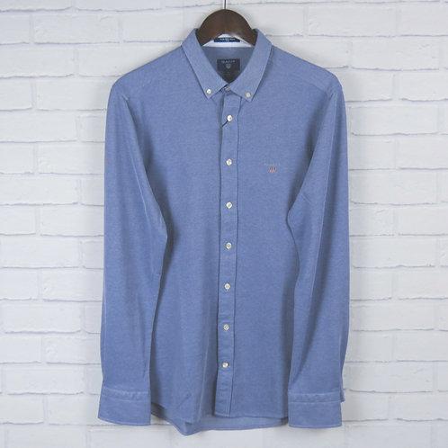 Gant Pique Shirt Blue