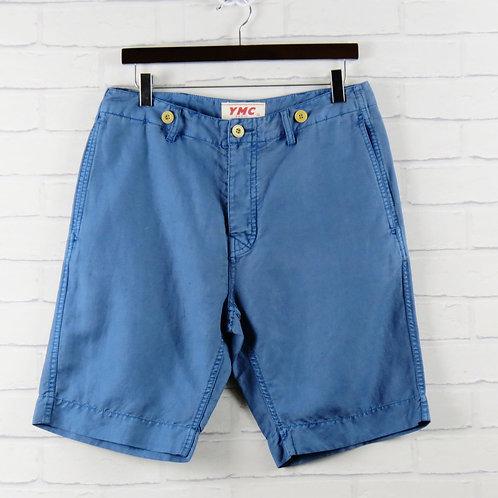 YMC Cotton/Linen Shorts Blue