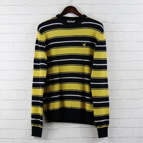 Lyle & Scott Navy/Yellow Stripe Sweater