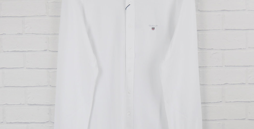 Gant White Slim Piqué Shirt