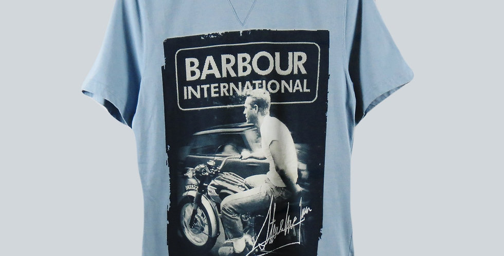 Barbour Steve McQueen Blue T-Shirt
