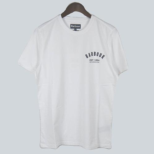 Barbour Preppy White T-Shirt