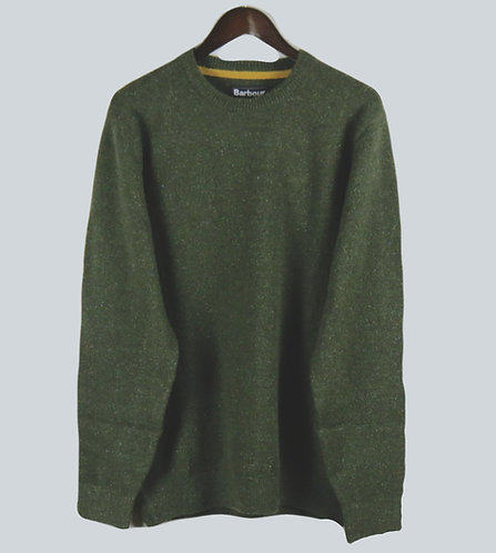 Barbour Tisbury Crew Sweater - Forest