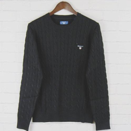 Gant Black Cable Crew Sweater